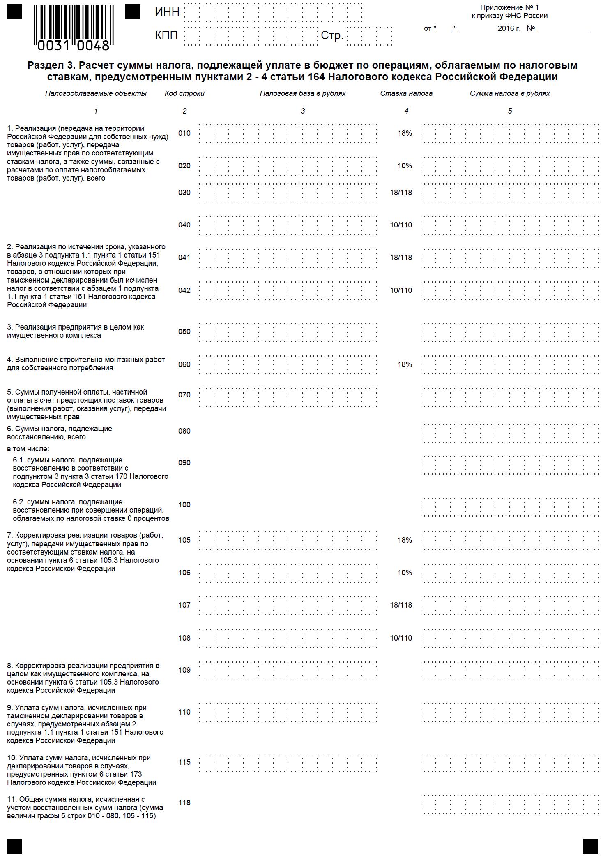 инструкция по заполнению декларации по ндс за 2011г